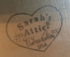 Sarah's Attic Plate Limited Edition Numbered #414 Schoolhouse Alphabet