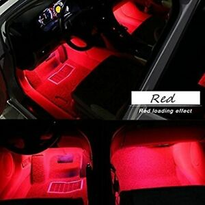 Luz Luces LED Para Interio De Carro Auto Coche Troca Pickup Van SUB Neo Rojo