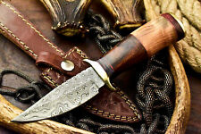 Rare!!! Custom Hand Made Damascus Steel Blade Hunting Knife | Olive Wood |