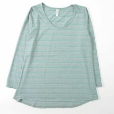 Lularoe LYNNAE Green Print Tunic Top Soft Stretch Long Sleeve Womens 2XL XXL