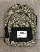NEW With Tag IT Luggage Santiago Green Floral Backpack 40cm Laptop Section