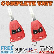 2 For 2006 2007 Dodge Charger Keyless Entry Remote Car Key Fob 3b Red