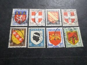FRANCE, belle SELECTION/LOT timbres ARMOIRIES BLASONS, oblitérés, TB, VF stamps