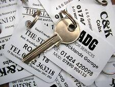 200 Plastic Printed Key Tags