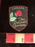 Vtg THE BUTCHART GARDENS Canada Floral Tourist Attraction Patch 83YC
