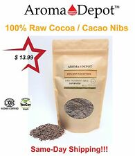 Raw Cacao / Cocoa Nibs 100% Pure Kosher Raw Chocolate Arriba Nacional Bean 1 Lb.