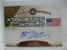 2010 Upper Deck Athletes of the World BJ Penn Auto Signed Card AW-54