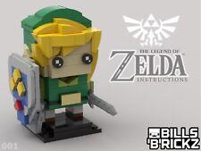 Lego MOC Brickheadz - Legend of Zelda - Link - Custom PDF Instructions ONLY