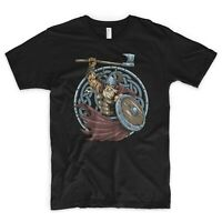 Viking T Shirt Odin Nordic Mythology Gym Training Valhalla Ragnar Thor