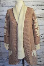 BB Dakota Open Front Cardigan Hi-Low Sweater Southwest Shawl Collar Size M