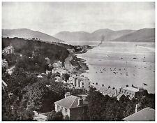 Ardbeg & Cowal Hills, Isle of Bute, Scotland 1907 antique print in 11 x 14 mount