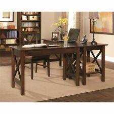 Atlantic Furniture Lexington 3 Piece Office Set in Antique Walnut