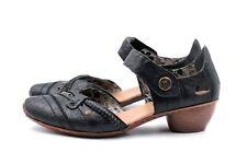 RIEKER Pumps Gr. 39 UK 6 Schwarz Kunstleder Damen Schuhe