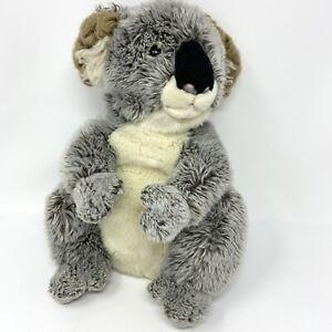 "Sitting Koala Bear Plush Teddy Hermann GmbH Germany 10""  26cm Grey Stuffed"