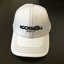 Rockwell Golf Cap Hat White and black Size L/Xl. Nice.