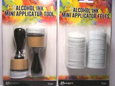 Alcohol Ink Mini Applicator Tool Set w/ 50pc Replacement Felt Tim Holtz - Ranger