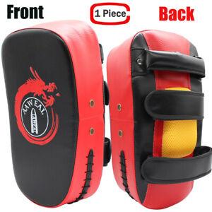 1X Boxing Kick Shield Strike Curved Arm Pad MMA Focus Muay Thai Punch Bag GYM UK