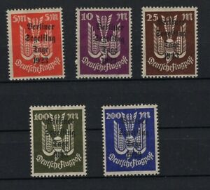 GERMANY 1923 AIRPOST STAMPS WITH BERLINER OVPT MNH** -CAG 040421
