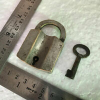 Hardware Architectural & Garden Dependable A Pair Of Old Or Antique Solid Brass Padlock Lock With Key Trust