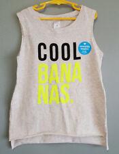 f401f9bf2a9d8f BNWT Girls Sz 10 Target Brand Grey Cool Bananas Sequins Soft Stretch Summer  Top
