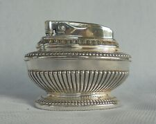 "VINTAGE SILVER PLATED ""Queen Anne"" RONSON TABLE CIGARETTE LIGHTER REG.NO.850881"