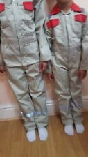Fantastic Kids coveralls overalls in Skin beige colour red contrast for age 1-13