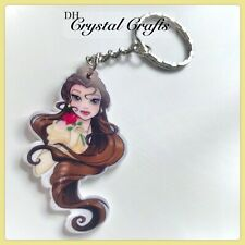 Disney Beauty And The Beast Belle Theme Handmade Keyring Bag Charm  Gift #71