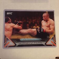 GEORGES ST-PIERRE #100 2016 Topps Knockout fighter MMA 5X7 UFC GOLD 03/10 made