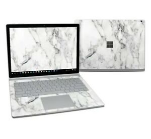 Microsoft Surface Book 2 13.5in i5 Skin - White Marble - Decal Sticker