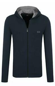 Hugo boss Zipper Hoodie in Navy and Grey Colour S to XXL