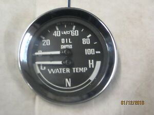 SMITHS NEW  DUAL OIL WATER GAUGE  CNH COLD NORMAL HOT MGB MIDGET SPRITE bha4900