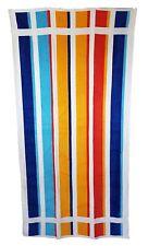 Orange and Blue Citrus Striped Beach Towel Jumbo Large Bath Sheet 100 Cotton