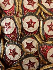 5 x Russian USSR Soviet Military Army Ushanka Badges Best of Unit Ground Forces