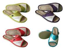 Pantofole da donna bianchi 100% pelle