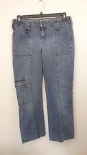 Womens Route 66 Denim Blue Jeans size 16, short pants, front seams  -107