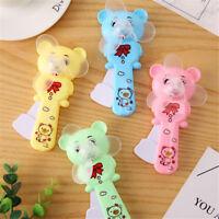 1x Cute Portable Mini Bear Fan Hand Press Cooling Fan Kids Toy Gift New UK