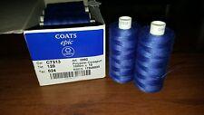 Thread Coats Epic 120, Nahgarn Starke, 100% Polyester Corespun, Col:C7313 Blue