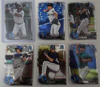 2016 Bowman Chrome Draft Seattle Mariners Team Set 6 Baseball Cards Kyle Lewis