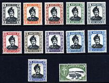 BRUNEI 1952-1958 Sultan & Village Mult Script CA Part Set SG 100 to SG 111a MINT