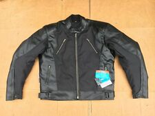 "RK SPORTS Mens Leather & Textile  Motorcycle Motorbike Jacket UK 48"" Chest (LB4)"