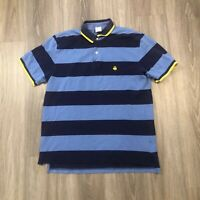 Brooks Brothers 346 Mens Large Blue Striped Cotton Polo Shirt Original Fit