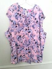 Woman Within Plus Size 5X  Sleeveless Top Shirt Keyhole Blouse  NEW