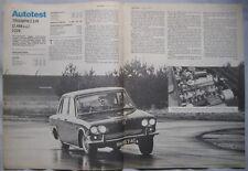 1969 Triumph 2.5 PI Original Autocar magazine Road test