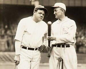 """Babe Ruth & Ty Cobb - 8"""" x 10"""" Photo - Hall of Fame Legends"""