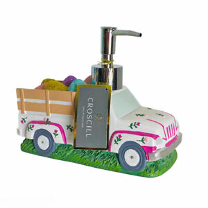 Croscill Spring Floral Easter Truck w/Bed of Eggs Hand Bath Pump Soap Dispenser