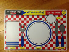 Melissa & Doug Color-a-Mat Set The Table, ages 3+, brand new