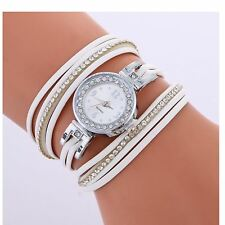 Ladies Silver Watch Women Woman Smart Watches Double White Jewellery Strap UK