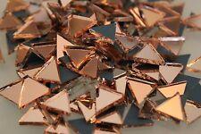Mosaïque triangulaire or rose miroir en verre, Art & Craft 200 pcs, environ 10 mm