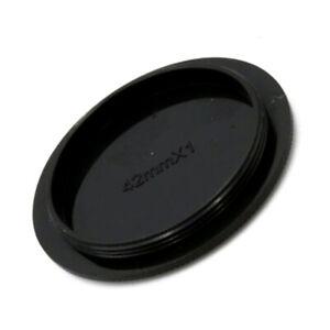 Digital Camera M42 42mm Screw Mount Rear Lens Body Black Caps Cover Plastic B1X1