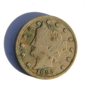 1895 Liberty Head V Nickel Coin